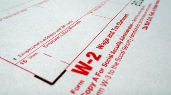 Tax form W2
