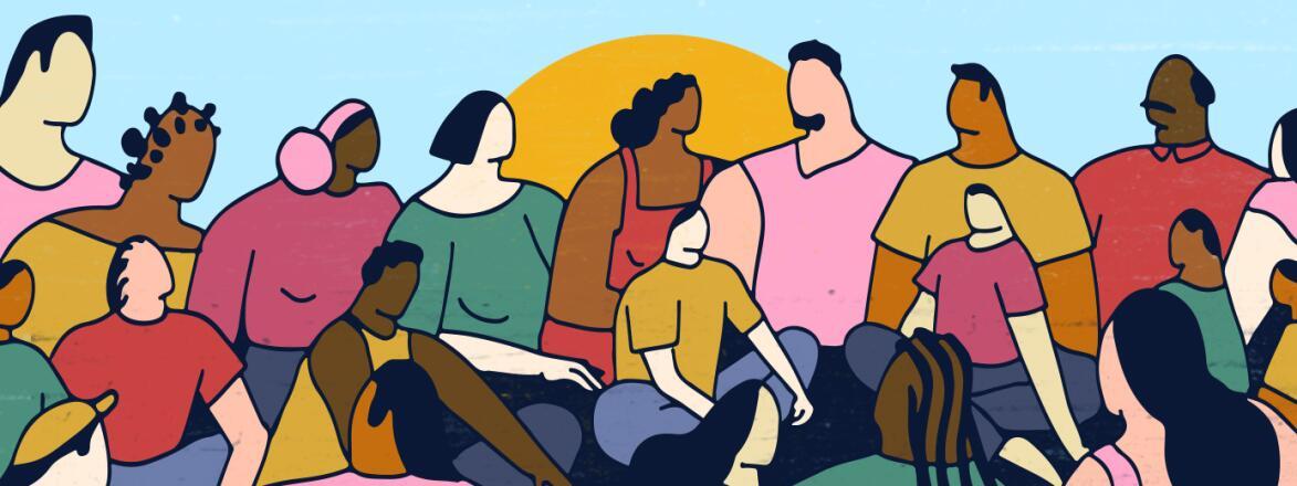 illustration of parents sitting together