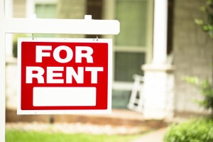 For Rent sign in front of home