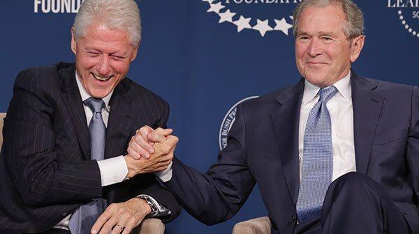 President Clinton And President George W. Bush Launch Presidential Leadership Scholars Program