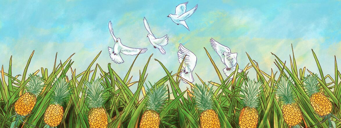 illustration_of_field_with_pineapples_and_birds_flying_Coping_with_Infertility_Michelle_Kondrich.jpg