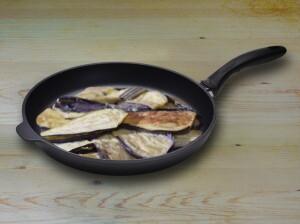 pan with eggplant