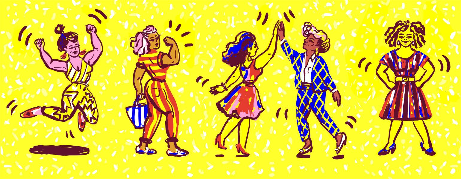 The Girlfriend Illustrationempowerment Women empowerment Dance be physically active