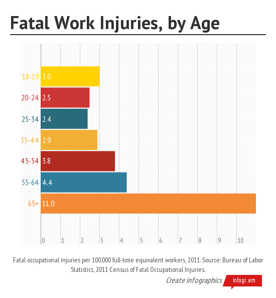 Fatal Work Injuries by Age(2)